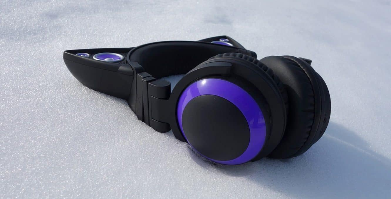Cat Ear Headphones - Brookstone Wired Purple